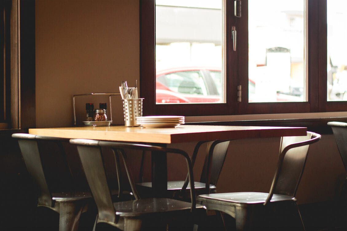 Restaurant Table Stilleben Servicewüste