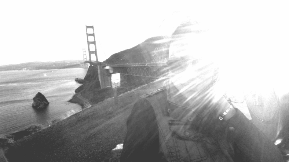 abendsonne golden gate bridge black and white