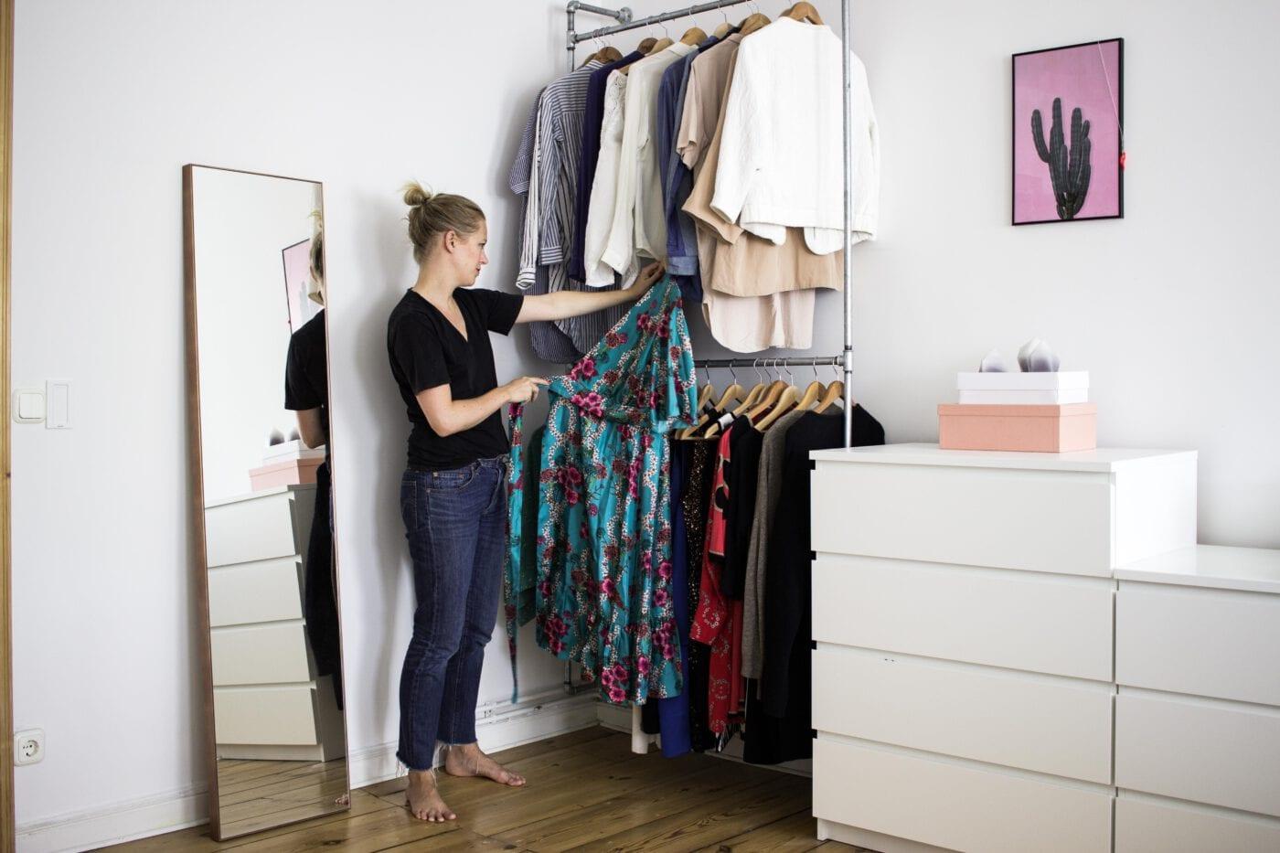 DIY: Kleiderschrank aus Rohren